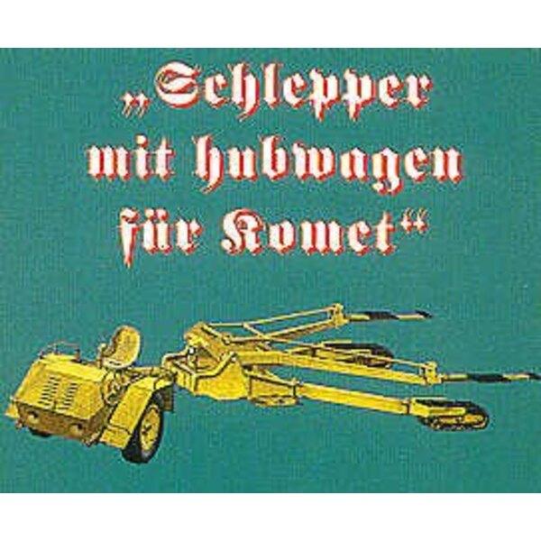 Schleup-Schlepper Messerschmitt Me 163B tracteur de remorquage (pour les maquettes Dragon Revell ou Trimaster)