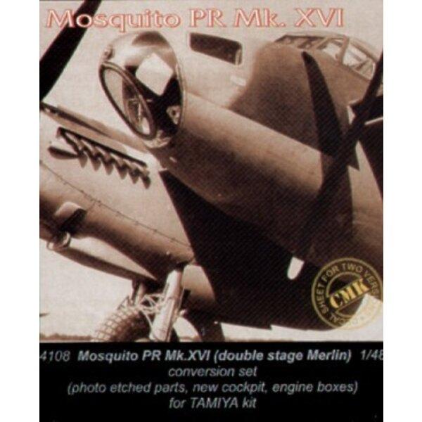 moteur Merlin twin stage pour de Havilland Mosquito PR Mk. XVI (pour maquettes Tamiya)