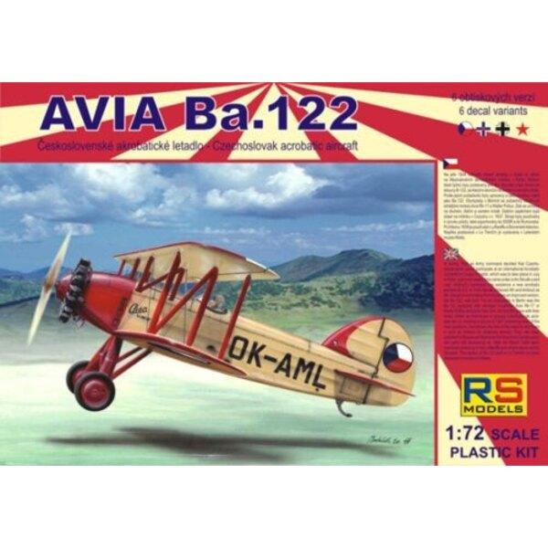 Avia Ba.122 avec moteurs Castor et Pollux. Décalques Tchèques x 3 Luftwaffe x 1 Slovaquie x 1 URSS x 1