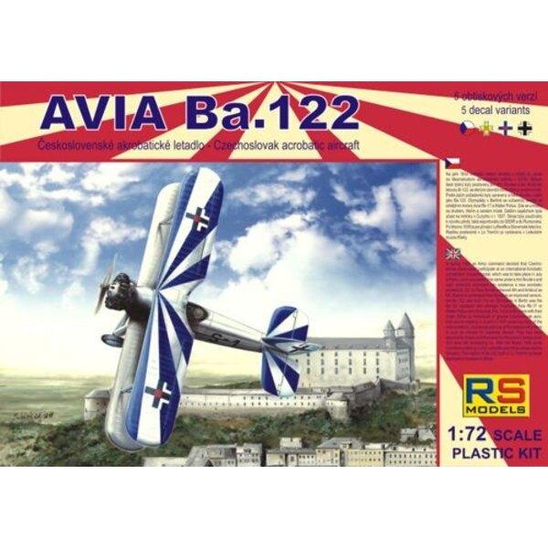 Avia Ba.122 avec moteur Avia Rk17. Décalques Luftwaffe , Tchèque , Slovaquie et Roumanie