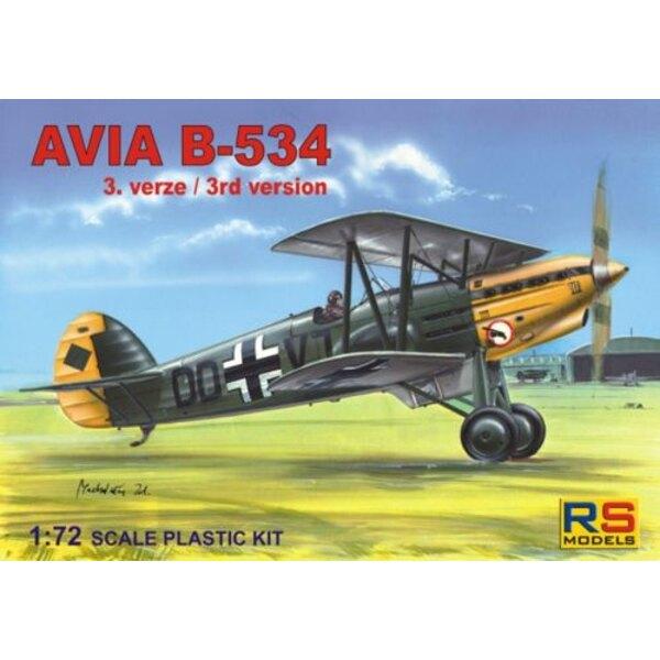 Avia B-534/III. Décalques pour 6 avions la Luftwaffe , Tchécoslovaquie et Slovaquie