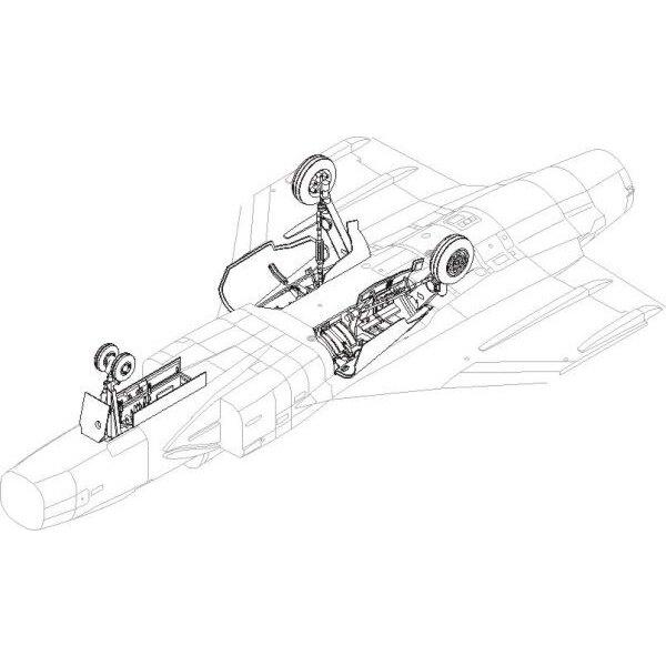 Saab JAS-39 Gripen - train d'atterrissage. Contient de nouvelles baies de train d'atterrissage, charnières de portes, nouvelles