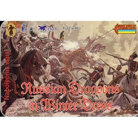 Dragons russes en tenue d'hiver - époque napoléonienne
