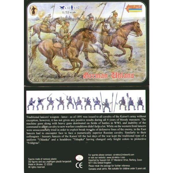 Uhlans allemand 1ère GM. 12 figurines et 12 chevaux. Aucun double.