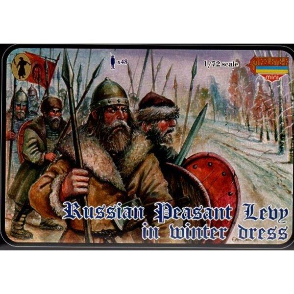Levée de Paysans médiévaux russe (en tenue d'hiver)