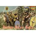 milice russe médiévale en tenue d'été