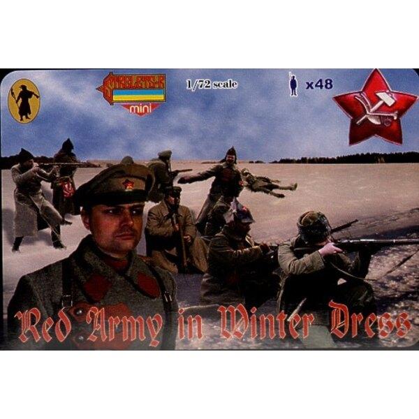 Armée Rouge en tenue d'hiver. Guerre civile russe