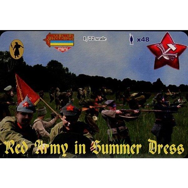 Armée Rouge en tenue d'été . Guerre civile russe