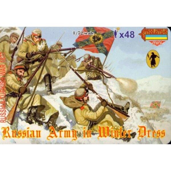 Infanterie russe en tenue d'hiver 1877