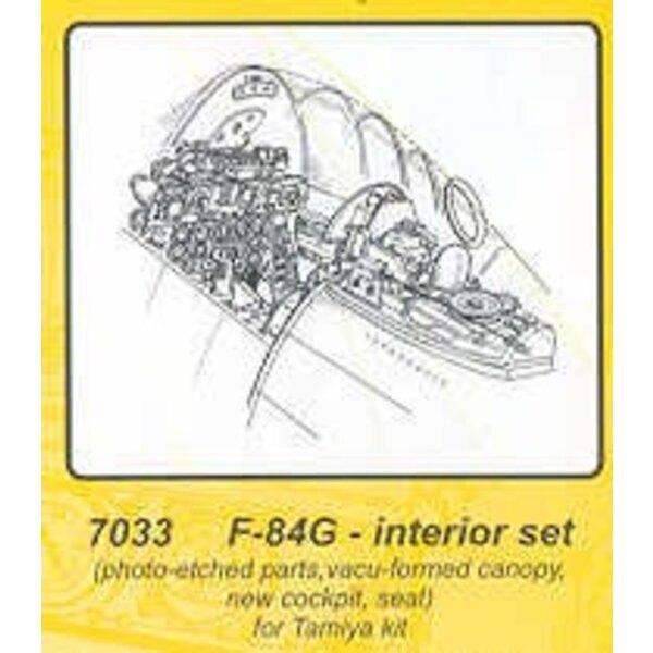 intérieur de Republic F-84 (pour maquettes Tamiya)
