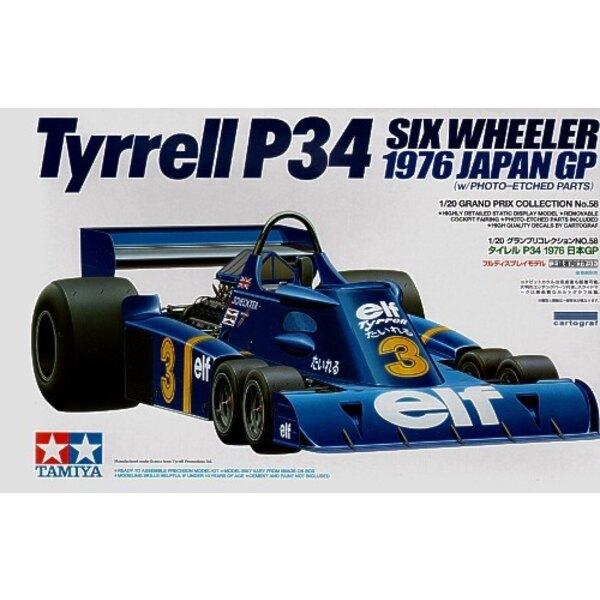 Tyrrell P34 1976 GP du Japon avec pièces photodécoupées