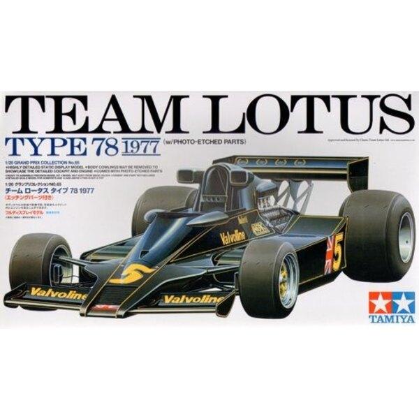 Lotus 78 1977 avec des pièces photodécoupées