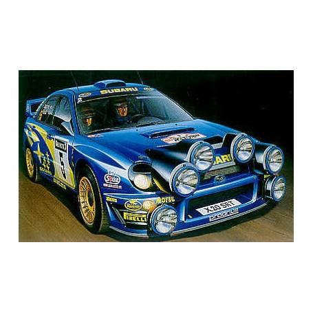 Subaru Imprezza WRC Rallye de Grande-Bretagne 2001. Décalques inclus pour Burns & Reid et Aral et Sircombe. Inclut un pochoir po