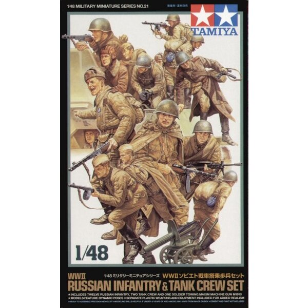 WWII Russian Tank Crew and Infantry set