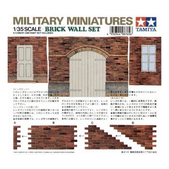 Tamiya 35028 - Coffret de mur en briques - Diorama 1/35