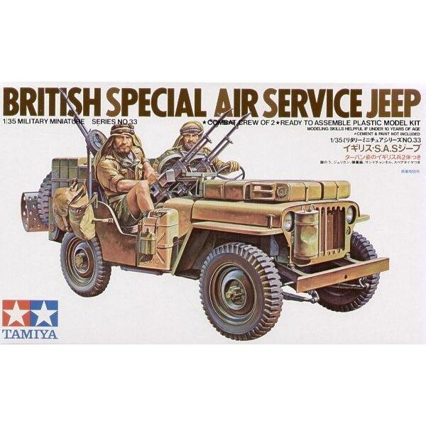 Jeep SAS avec figurines d'équipage - Réédition limitée