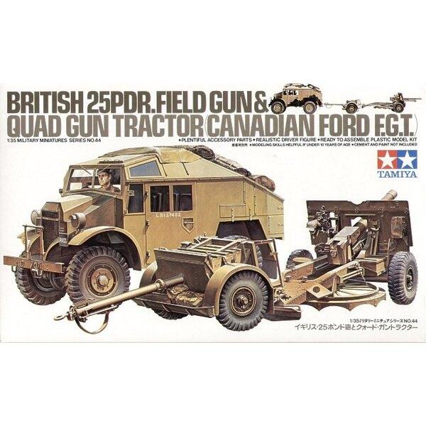Canon de 25 livres, Ford Quad Gun Tractor et figurine de conducteur