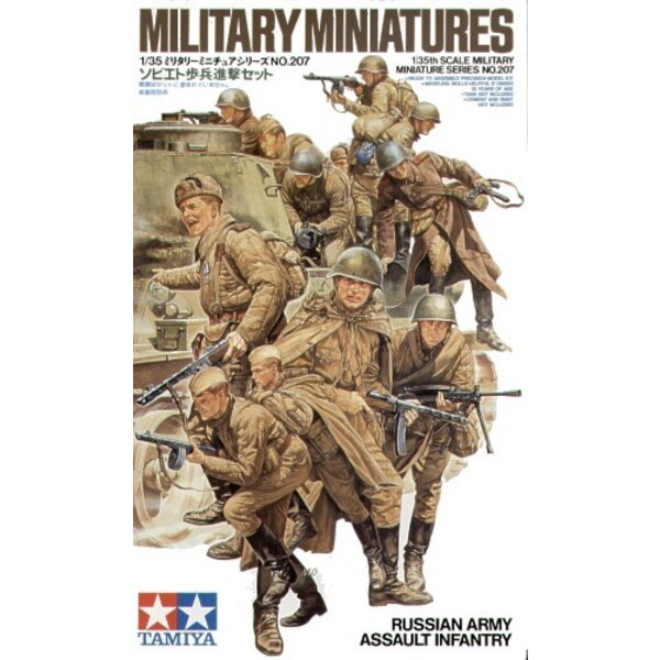 Russian Army Assault Infantry 12 figures from 1943/45