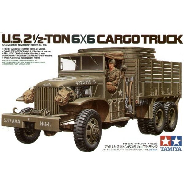 U.S. Type353 6x6 2.5ton truck with driver figure and decals for 4 vehicles