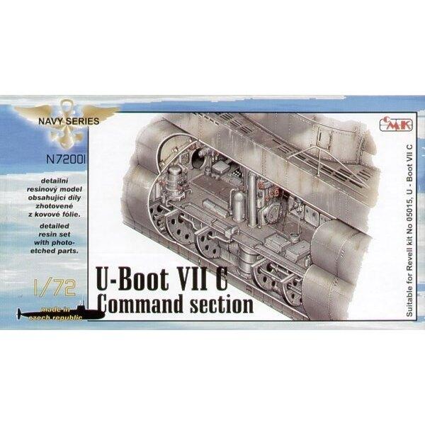 Intérieur de U-Boot Type VIIc compartiment de commandement (pour maquettes Revell)
