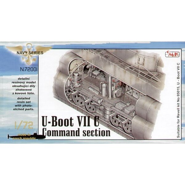 U-Boat Type VIIc interior command section (designed to be assembled with model kits from Revell)