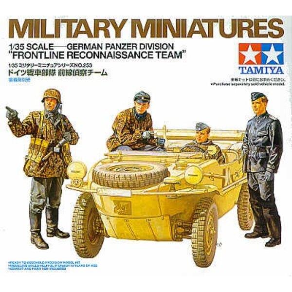 4 Figurines de peloton reconnaissance pour Schwimwagen