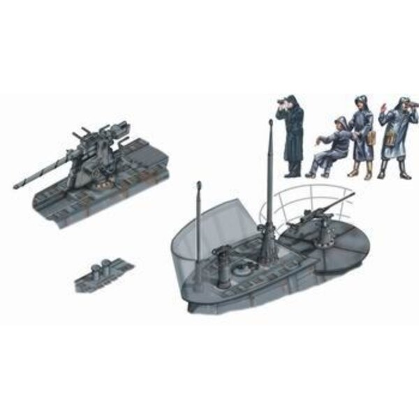 U-Boat Type VIIc exterior set (designed to be assembled with model kits from Revell)