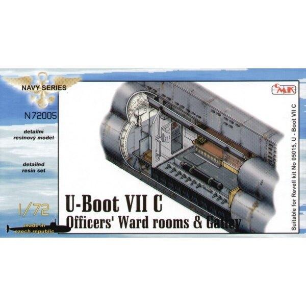U-Boot Type VIIc : les pièces de salle d'hôpital, carré des Officiers et galerie (pour maquettes Revell)