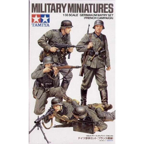WWII German Infantry x 4 (French Campaign)