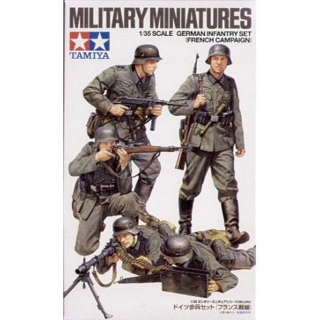 Infanterie allemande de la 2ème GM x 4 (Campagne de France)