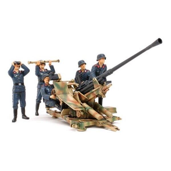 Canon anti-aérien allemand de 3.7 cm type 37 avec servants