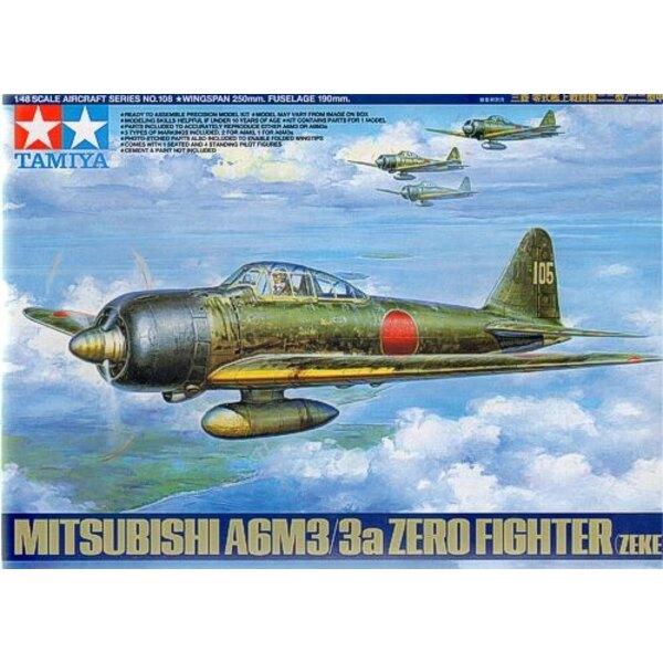 Mitsubishi A6M3/3a Zero. Inclut un nouvel outillage des ailes , le mécanisme de pliage des ailes en photodécoupe, le pilote assi