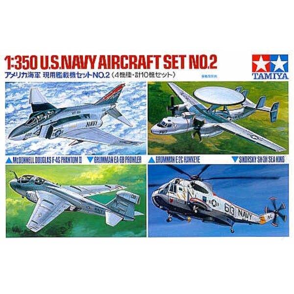 Coffret d'avion de l'US Navy Set 2 : E-2C Grumman x 2, Sea King x 2, Grumman EA-6B Prowler x 2 F-4S x 4