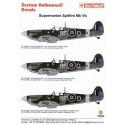 décal supermarine spitfire mk.vb (3) all rf-d flt lt/ sqd ldr jan zumbach 303 polish sqn with donal