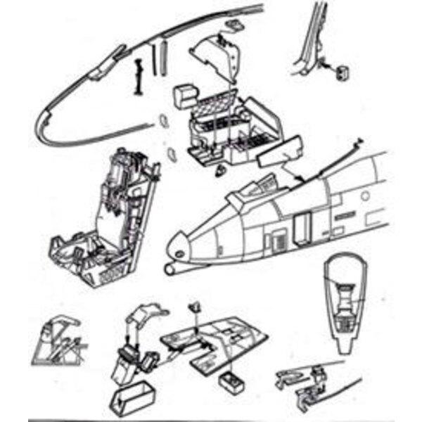 Cockpit de Fairchild A-10A (pour maquettes Trumpeter)