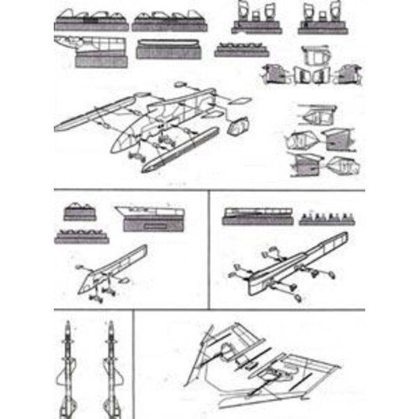 Pylônes de F-4 Phantom version de l'USAF (pour maquettes Hasegawa)