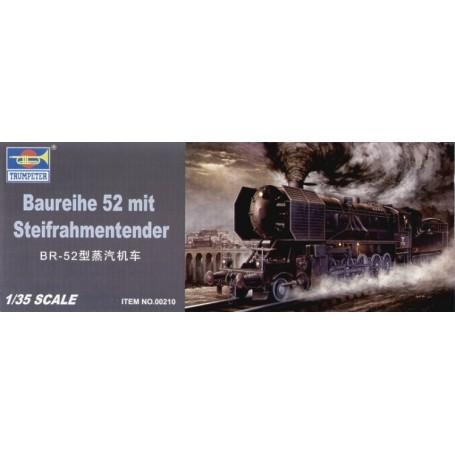 Loco À vapeur blindée Kriegslocomotive BR-52 avec Steifrahmentender (voir CMF35066 CMF35067 et CMF35068 pour des figurines utile