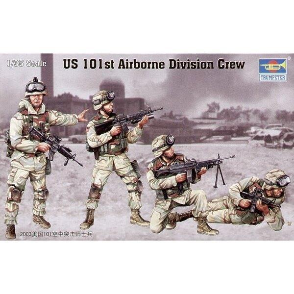 Peloton de la 101ème division aéroportée US (4 figurines)