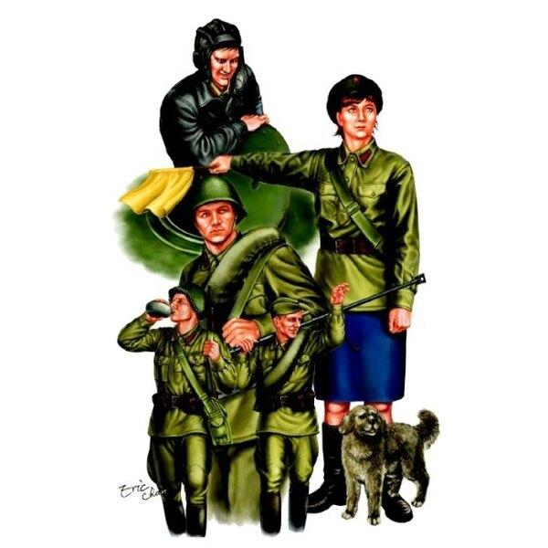 Tankistes soviétiques de la 2ème GM