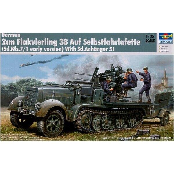 Semi-chenillé Sd.Kfz.7/1 avec Flakvierling 38 de 2 cm (version précoce)