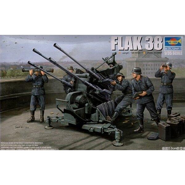 Canon antiaérien allemand Flak38 de 2.0 cm