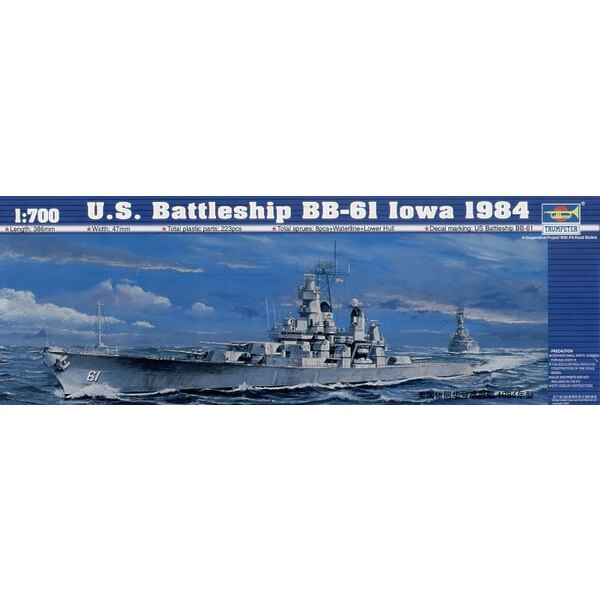 Cuirassé USS BB-6I Iowa 1984