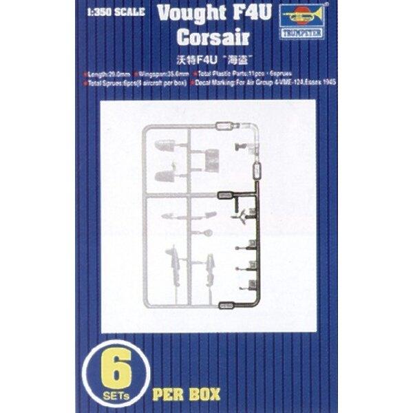 Vought F4U Corsair. 6 par boîte