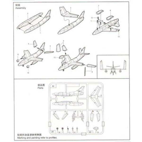 Douglas A-3D Skywarrior x 6 sets per box