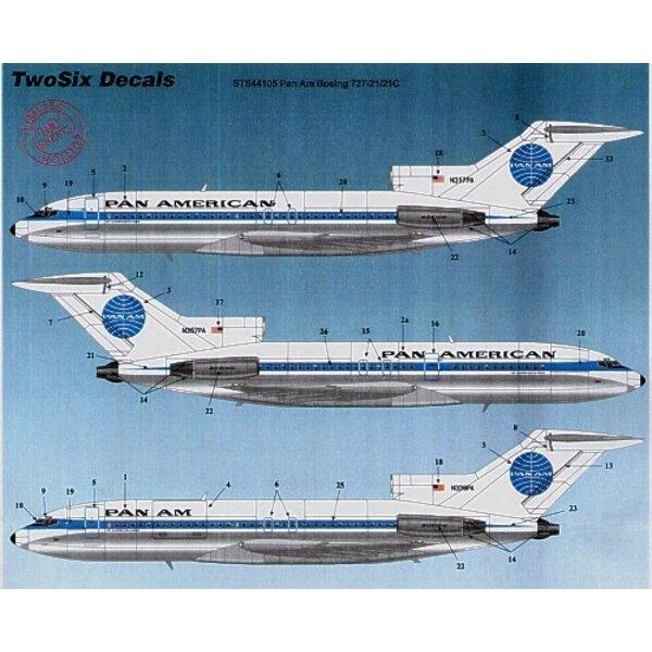 Boeing 727-21C PAN AMERICAN/PAN AM 22 Registrations N318PA etc
