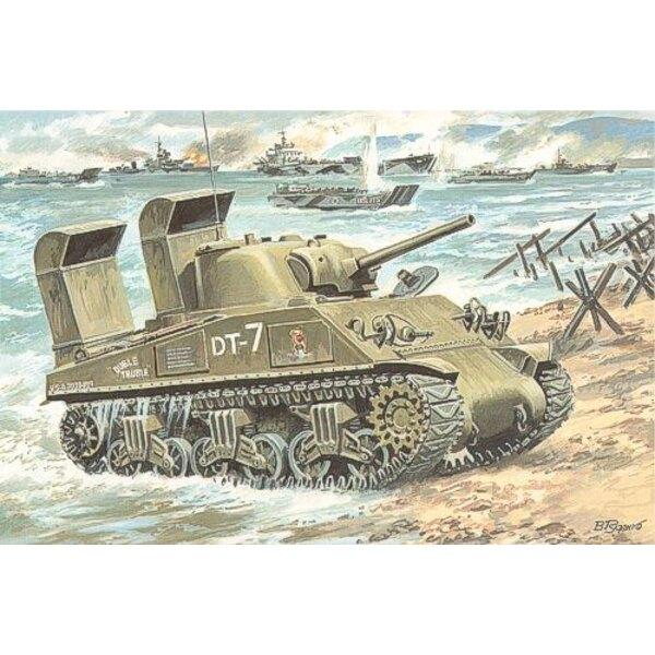 M4A3 Sherman avec jupes de franchissement
