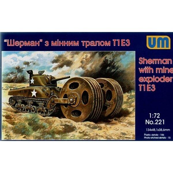 Sherman avec explorateur de mines T1 E3