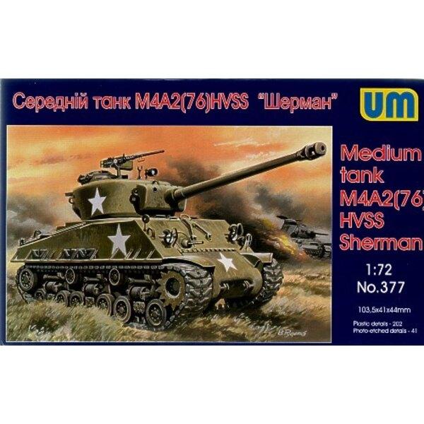 Sherman M4A2 (76) avec char moyen HVSS