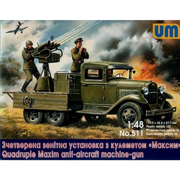 Soviet truck GAZ-AAA with anti-aircraft plant Maksim