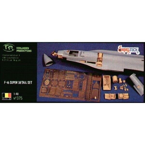 Kit de super-détail de Lockheed Martin F-16 (pour maquettes Hasegawa)